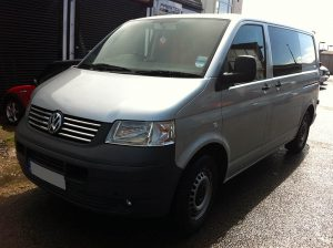 VW Transporter Silver Wrap