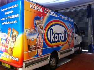 Ice cream Van Wrap