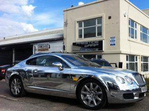 Bentley Chrome wrap