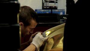 Mercedes ML gold chrome wrap