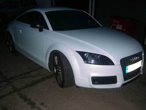Audi TT Pearl White Wrap