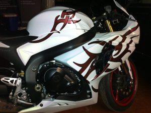 Motobike White Wrap & Tribals