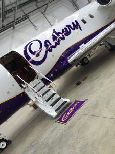 Cadburys Plane Wrap - Door View