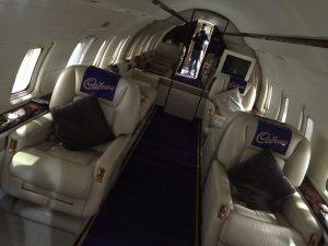 Cadburys Plane Wrap - Interior View