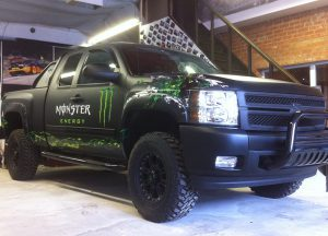 Monster Energy Drink truck fully customised by Prestige Customs London