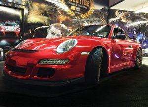 Porsche Carrera GT3 in Red Chrome